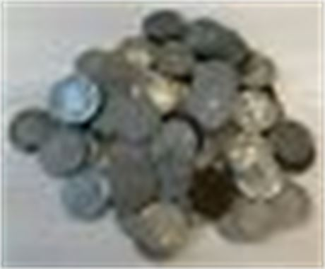 Lot of Cull/Mixed Date Buffalo Nickels 80 Count