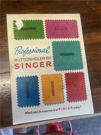 Vintage Singer Professional Buttonholder Zig-Zag Sims 4634