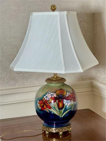 Vintage Moorcroft Pottery Table Lamp