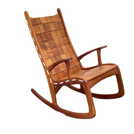 Custom Quilted Vermont Rocking Chair - Natural Cherry