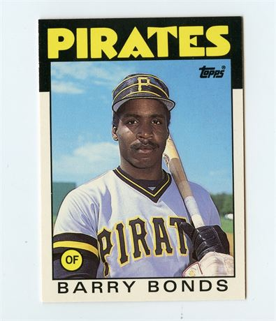 BARRY BONDS RC 1986 TOPPS TRADED 11T PIRATES GIANTS ROOKIE