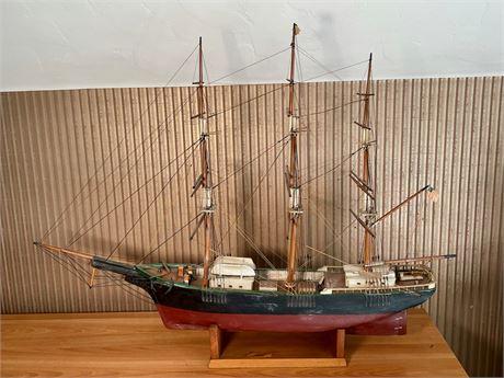 Signed Schooner Model Ship
