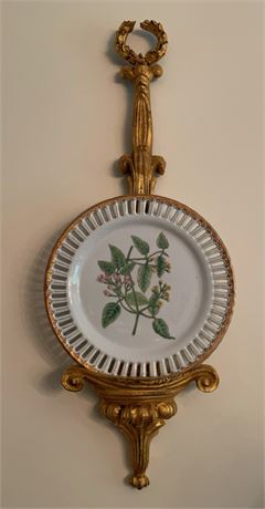 Pair of Porcelain Plates and Decorative Wall Plate Displays