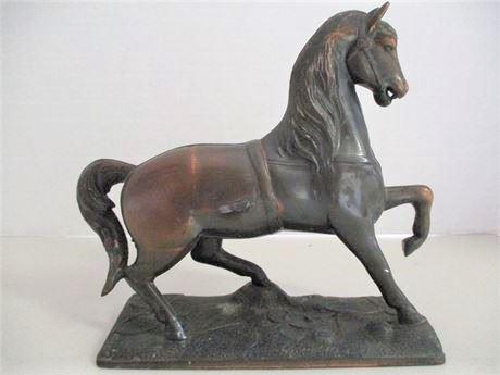 Cast Metal Horse Statue
