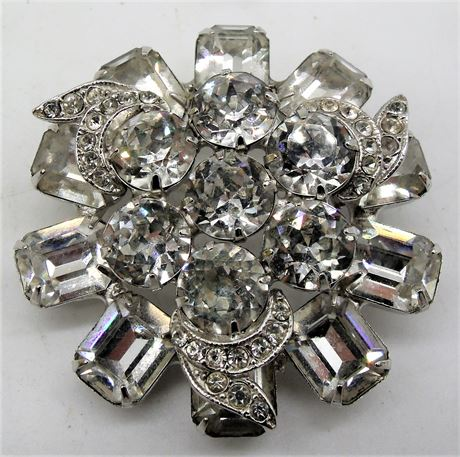 Signed WEISS brooch