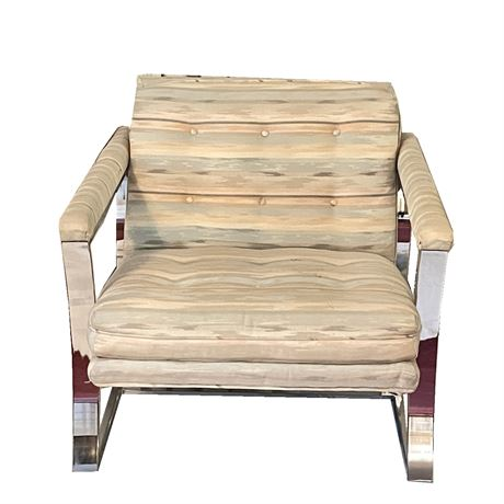 Vintage Cushioned Lounge Chair