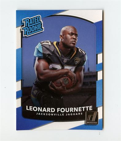 LEONARD FOURNETTE RC 2017 DONRUSS RATED ROOKIE #319 TAMPA BAY BUCCANEERS HOT