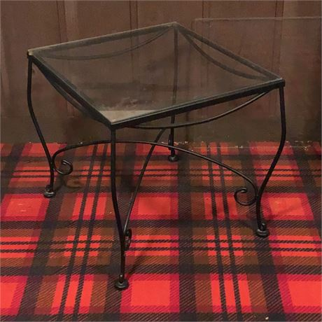 Vintage Iron Outdoor Occasional Table