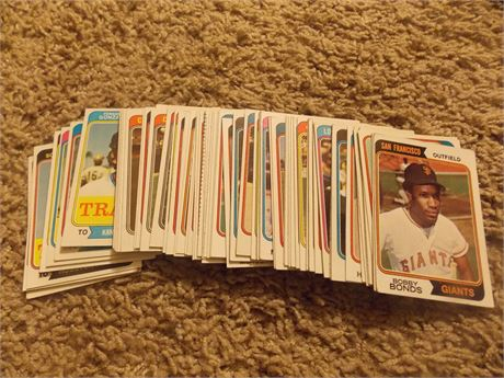 1974 Topps baseball cards, lot of 72 different  EX/MT