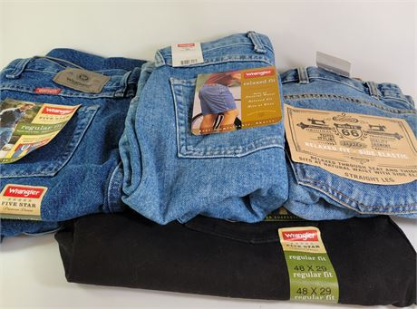 Men's Jeans Lot Sizes 44 and 48 -- New with Tags
