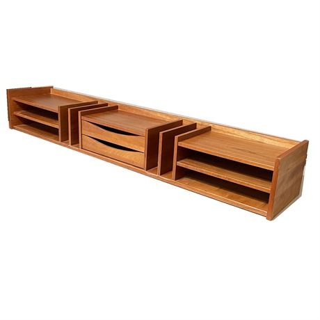 Teak Desk Top Organizer
