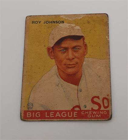 Roy Johnson 1933 Goudey Boston Red Sox #8