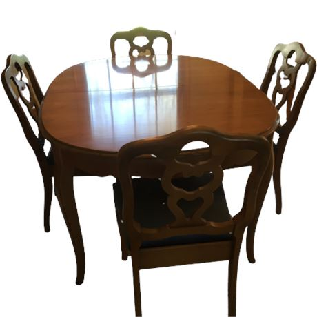 Bassett Pecan French Provincial Dining Table