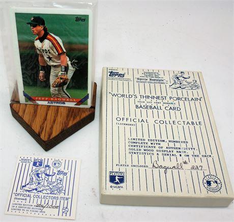 Porcelain Baseball Card & box
