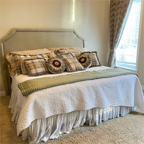 Custom King Size Complete Bed & Linens
