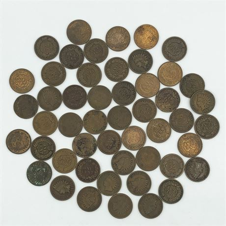 Indian Head Cent Coin Lot Mixed Date Roll of Indian Head Cents