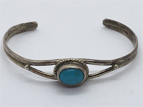 Child's Sterling Silver Turquoise Bracelet