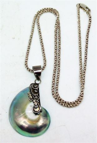 Sterling shell necklace
