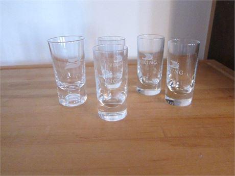 Set of 5 Viking Shot Glasses