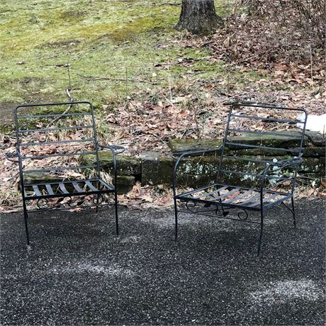 Wrought Iron Vintage Outdoor Chair Set
