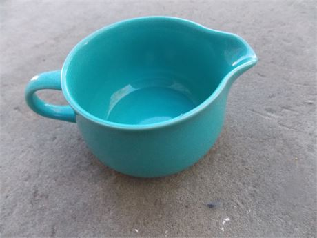 Vintage Nancy Calhoun Dark Aqua stoneware - creamer