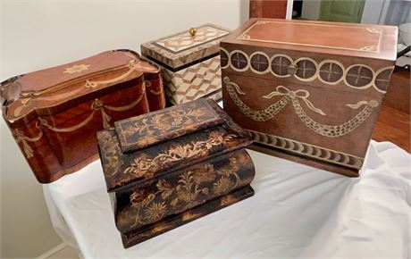 2 Maitland Smith Trinket Boxes and 2 Other Boxes