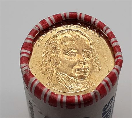 Roll of James Madison Twenty-five Dollar Coins