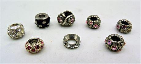 8 slider charms / beads