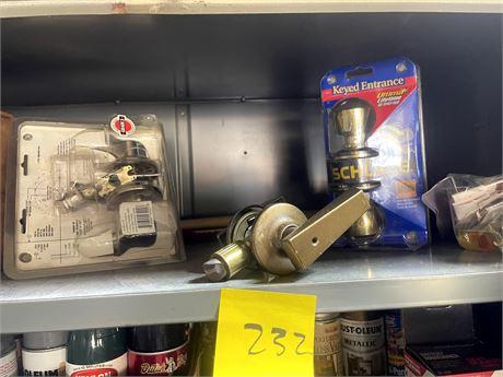 Shelf Cleanout 1 - Battery Charger/Door Handles.Rope