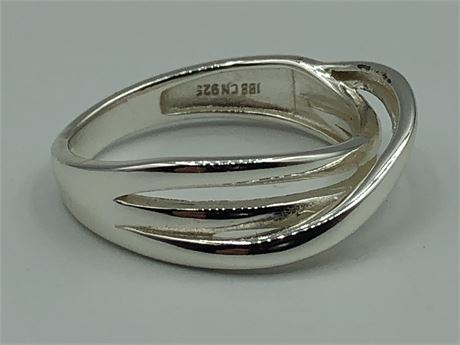 Sterling Silver Twisted Rope Ring Size 6 1/2