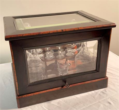 19th C. English Tantalus Liquor Box
