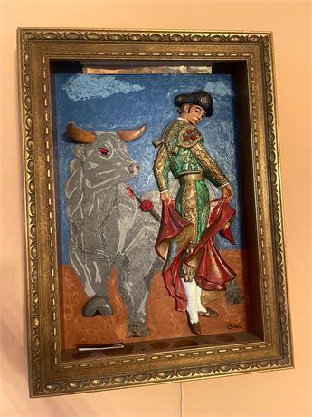 Battling Bruno, 3D lighted framed art