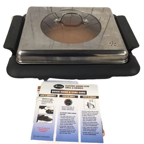 Electric Countertop Grill/Griddle (Gotham Steel)