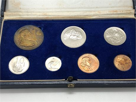 Silver 1 Rand 1967 South Africa 7 Coin Proof Set Coin Lot