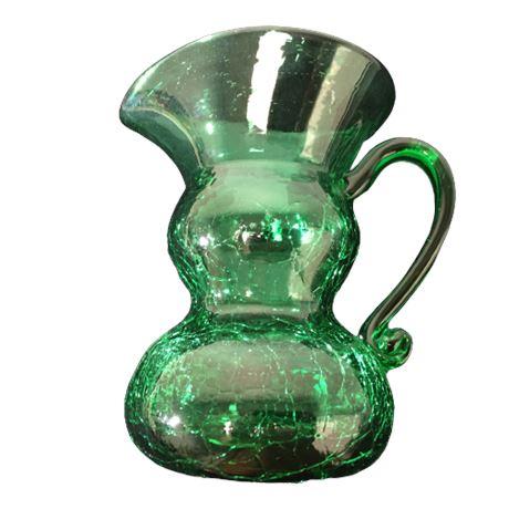Blenko Art Glass Green Small Pitcher/Carafe