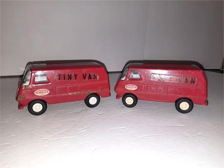 2 Vintage Tonka Tiny Vans