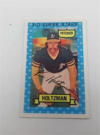 Kenneth Dale Holtzman Oaklands Angels #31 3D Super Star Signed Baseball Card