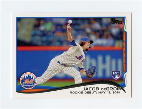 JACOB DEGROM RC 2014 TOPPS UPDATE US-57 NEW YORK METS ROOKIE HOT