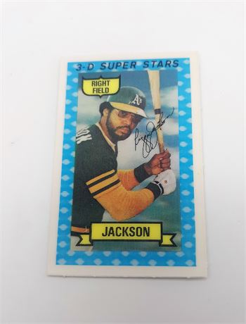 1974 Kellogg's 3D Baseball -#20 REGGIE JACKSON (Oakland A's) *NICE*