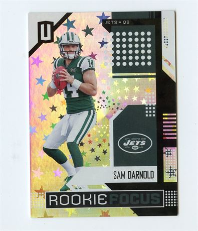 SAM DARNOLD RC 2018 UNPARRALLELED ROOKIE FOCUS ASTRAL 196/200 PANTHERS INVEST