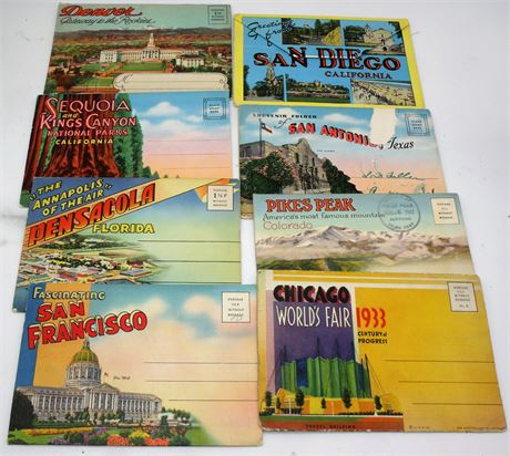 1933 Worlds Fair postcards & others