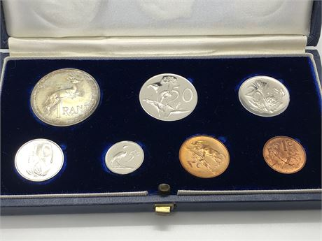 Silver 1 Rand 1966 South Africa 7 Coin Proof Set Coin Lot
