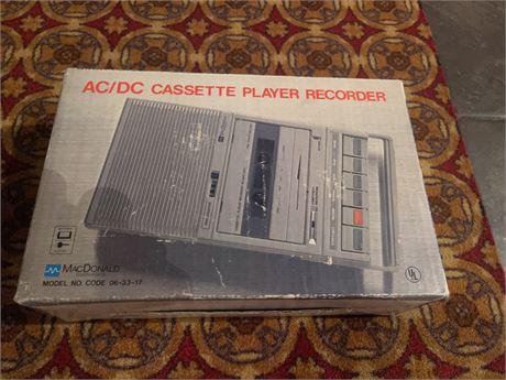 MacDonald Instruments Cassessttee Player Recorder