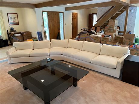 Off White Curved Sectional Sofa