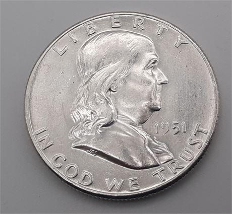 1951 Franklin Liberty Half Dollar A Real Stunner