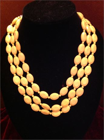 3 Strand Necklace with matching Earrings