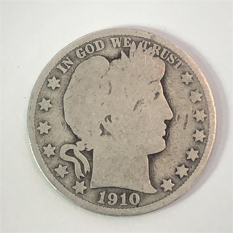 1910 Barber Half Dollar Coin