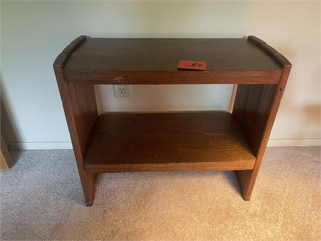 Two shelf retro wooden bookshelf