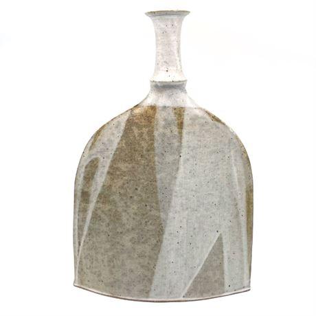 Slip Glazed Ceramic Long Neck Vessel