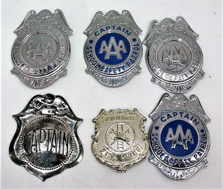 AAA safety Patrol Fire Chief badges